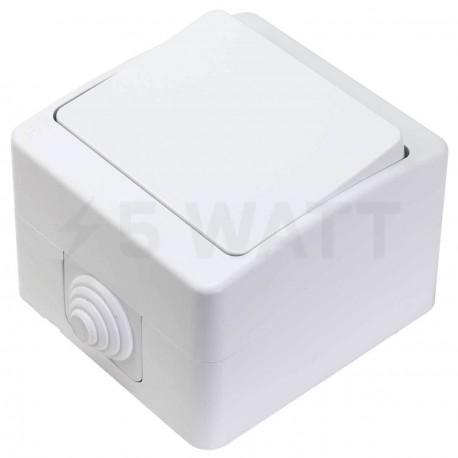 Выключатель одноклавишный Gunsan Nemli влагозащищённый белый (1071100100101) - купить