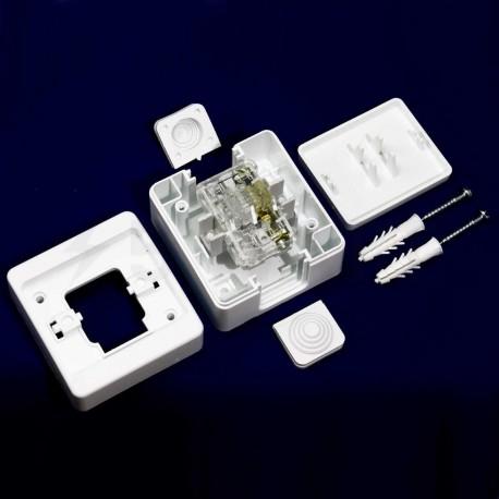 Выключатель одноклавишный Gunsan Nemli влагозащищённый белый (1071100100101) - в интернет-магазине