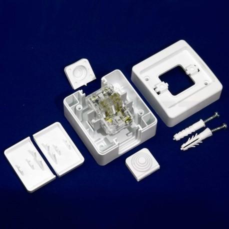 Выключатель двухклавишный Gunsan Nemli влагозащищённый белый (1071100100103) - в интернет-магазине