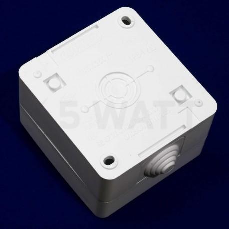 Вимикач двоклавішний Gunsan Nemli вологозахищений білий (1071100100103) - магазин світлодіодної LED продукції