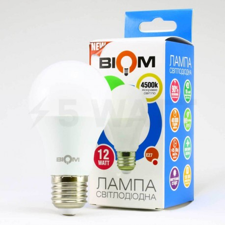 Светодиодная лампа Biom BT-512 A60 12W E27 4500К матовая - 5watt.ua