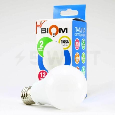 Светодиодная лампа Biom BT-512 A60 12W E27 4500К матовая - в Украине