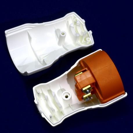 Гнездо штепсельное с заземлением Profitec, белое (PRFACS 9090102021) - недорого