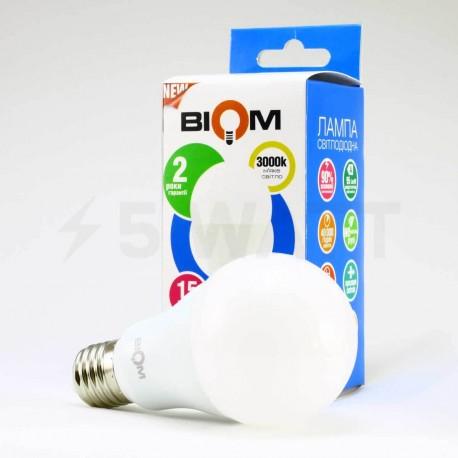 Светодиодная лампа Biom BT-515 A65 15W E27 3000К матовая - в Украине