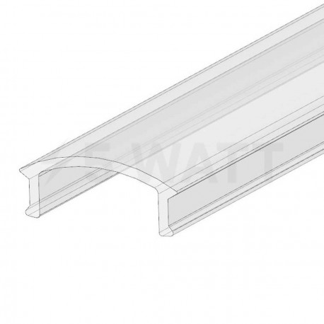 Рассеиватель прозрачный BIOM для LED профиля, м - купить