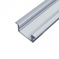 Профіль алюмінієвий LED BIOM врізний ЛПВ7 7х16, анодований (палка 2м), м