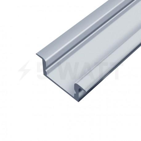 Профиль алюминиевый LED BIOM врезной ЛПВ7 7х16, неанодированный (палка 2м), м - купить