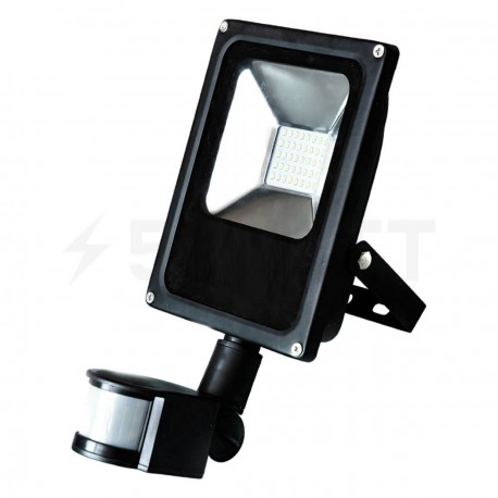 Світлодіодний прожектор BIOM 10W SMD-10-Slim +sensor 6500К 220V IP65 - придбати