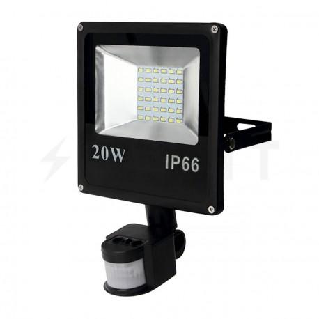 Светодиодный прожектор BIOM 20W SMD-20-Slim +sensor 6500К 220V IP65 - купить