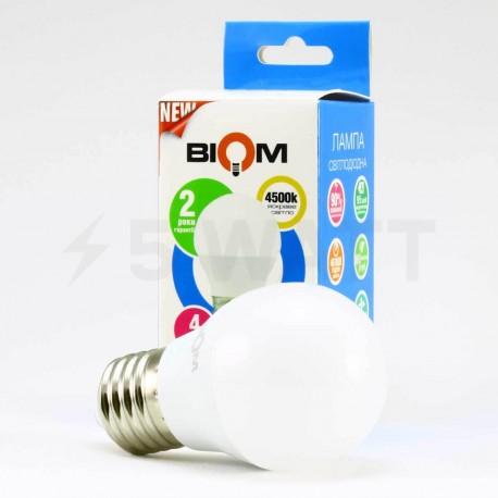 Світлодіодна лампа Biom BT-564 G45 6W E27 4500К матова - в Україні