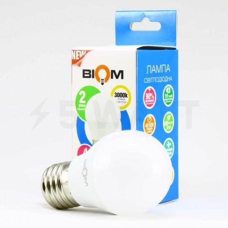 Світлодіодна лампа Biom BT-563 G45 6W E27 3000К матова - в Україні
