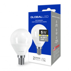 LED лампа GLOBAL G45 F 5W 3000К 220V E14 AP (1-GBL-143)