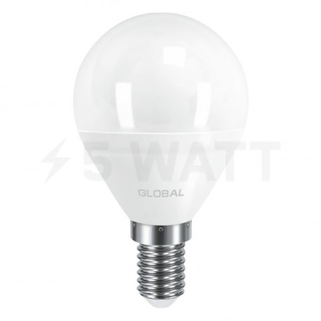 LED лампа GLOBAL G45 F 5W 3000К 220V E14 AP (1-GBL-143) - недорого