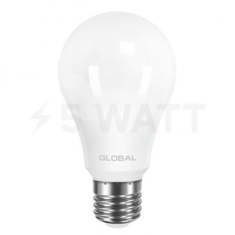 LED лампа GLOBAL A60 8W 3000К 220V E27 AL (1-GBL-161) - недорого