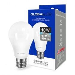 LED лампа GLOBAL A60 10W 4100К 220V E27 AL (1-GBL-164)
