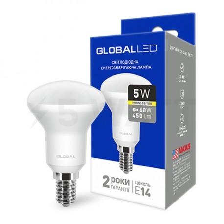 LED лампа GLOBAL R50 5W 3000К 220V E14 (1-GBL-153) - купить