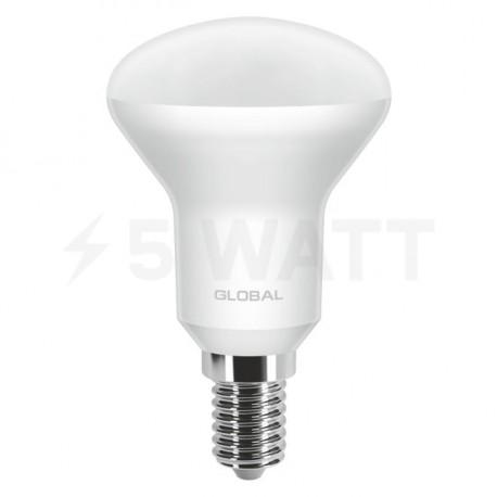 LED лампа GLOBAL R50 5W 3000К 220V E14 (1-GBL-153) - недорого