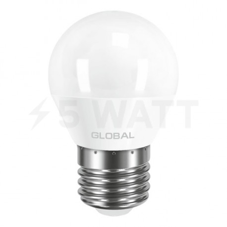LED лампа GLOBAL G45 F 5W 3000К 220V E27 AP (1-GBL-141) - недорого