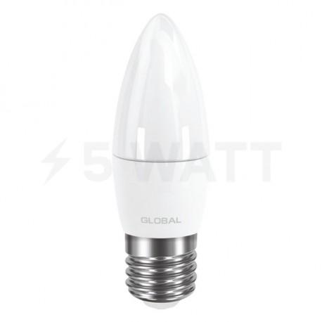 LED лампа GLOBAL C37 CL-F 5W 3000К 220V E27 AP (1-GBL-131) - недорого