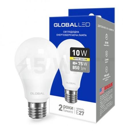 LED лампа GLOBAL A60 10W 3000К 220V E27 AL (1-GBL-163) - купить