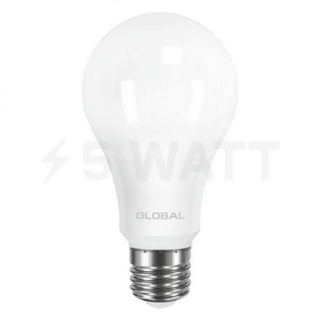 LED лампа GLOBAL A60 12W 3000К 220V E27 AL (1-GBL-165) - недорого