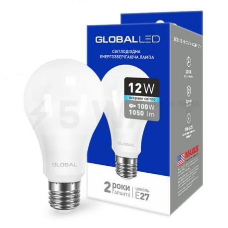 LED лампа GLOBAL A60 12W 4100К 220V E27 AL (1-GBL-166) - купить