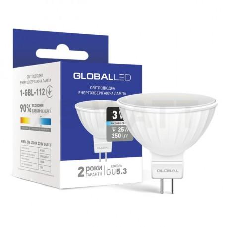 LED лампа GLOBAL MR16 3W 4100К 220V GU5.3 (1-GBL-112) - купить