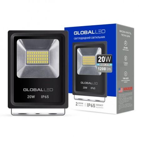 Прожектор LED GLOBAL FLOOD LIGHT 20W 5000K (1-LFL-002) - недорого
