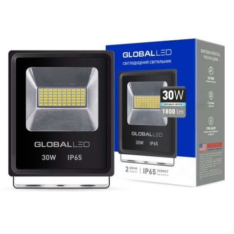 Прожектор LED GLOBAL FLOOD LIGHT 30W 5000K (1-LFL-003) - недорого