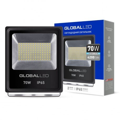 Прожектор LED GLOBAL FLOOD LIGHT 70W 5000K (1-LFL-005) - недорого