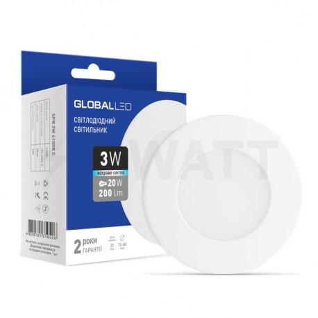 Панель міні GLOBAL LED SPN 3W 4100К (1-SPN-002-C) - недорого