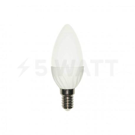 Світлодіодна лампа Biom BG-208 C37 5W E14 4500К матова - придбати