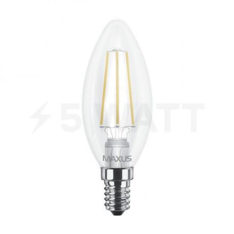 LED лампа MAXUS филамент, C37, 4W, 4100К,E14 (1-LED-538-01) - недорого