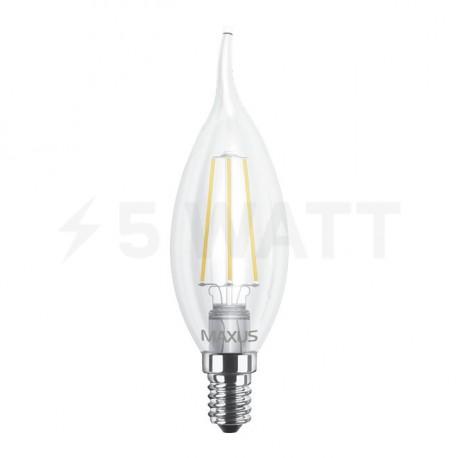 LED лампа MAXUS филамент, C37 TL, 4W, 4100К,E14 (1-LED-540) - недорого