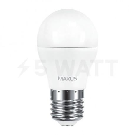 Набор LED ламп MAXUS G45 6W 3000К 220V E27 2 шт. (2-LED-541) - недорого
