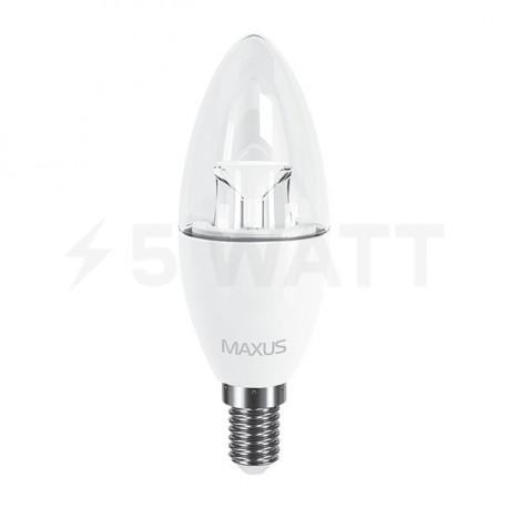 LED лампа MAXUS C37 6W 4100K 220V E14 (1-LED-532) - недорого