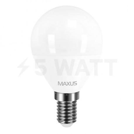 LED лампа MAXUS G45 F 4W 3000К 220V E14 (1-LED-5411) - недорого