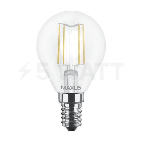 LED лампа MAXUS G45 FM 4W 3000К 220V E14 (1-LED-547-01) - недорого