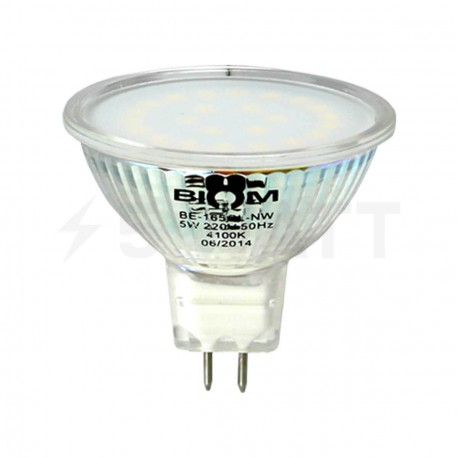 Світлодіодна лампа Biom MR16 SS-7W GU5.3 4100К матова