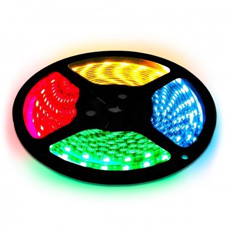Светодиодная лента Maxus DEC-LED-50030-01 SMD5050 30 LED/M DC12V RGB не герметичная, 1м - купить