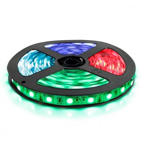 Светодиодная лента OEM 5050-60 RGB эконом, негерметичная, 1м - купить