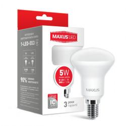 LED лампа MAXUS R50 5W 3000К 220V E14 (1-LED-553)