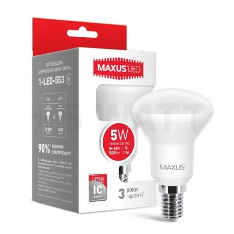 LED лампа MAXUS R50 5W 3000К 220V E14 (1-LED-553) - купить