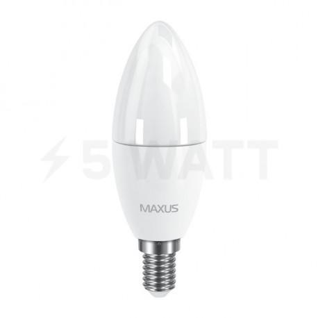 Набор LED ламп MAXUS C37 6W 3000К 220V E14 2 шт. (2-LED-533) - недорого