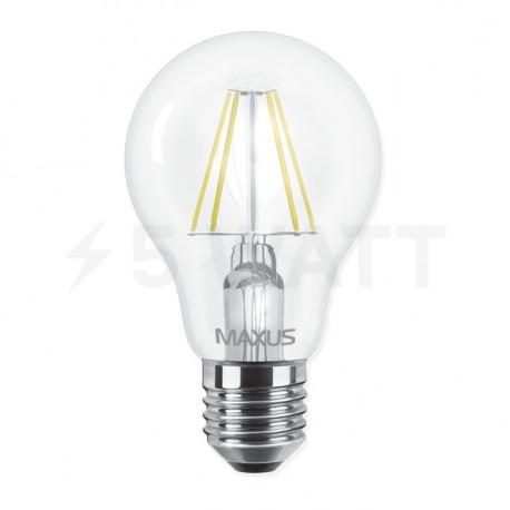 LED лампа MAXUS филамент, А60, 8W, 4100К,E27 (1-LED-566) - недорого