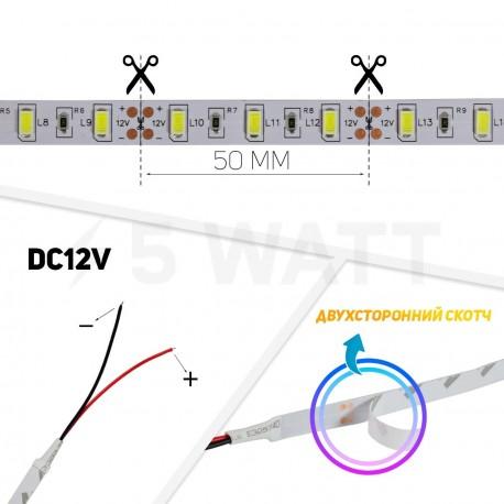 Светодиодная лента B-LED 5630-60 W белый, негерметичная, 1м - 5watt.ua