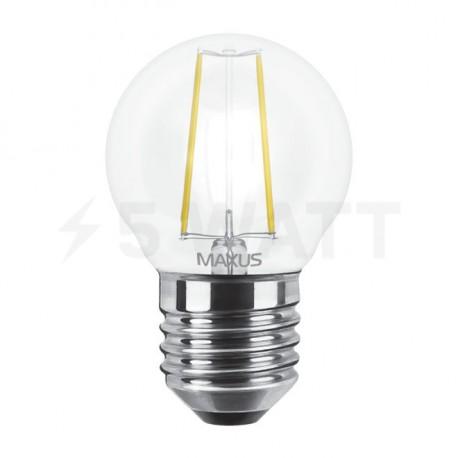 LED лампа MAXUS филамент, G45, 4W, 3000К,E27 (1-LED-545) - недорого