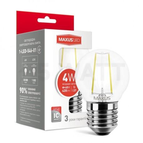 LED лампа MAXUS G45 FM 4W 4100К 220V E27 (1-LED-546-01) - купить