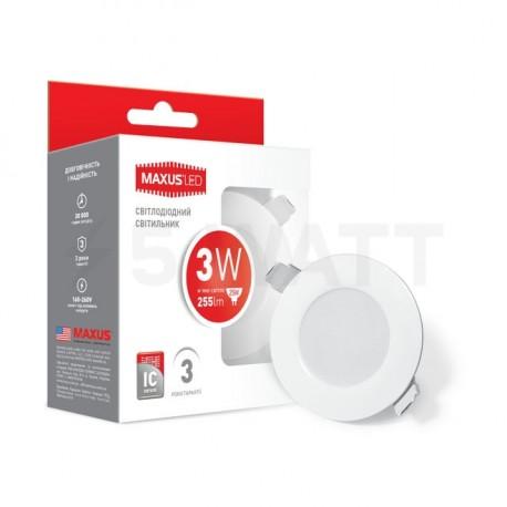 Точковий LED світильник MAXUS SDL mini,3W 3000К (1-SDL-010-01) - в Україні