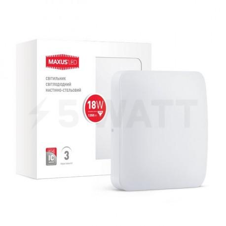 Світильник MAXUS LED настінно-стельовий 18W 4100К (1-LCL-004-04-S) - недорого